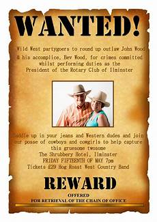 Funny Wanted Posters Fun Rotary Circa 1200 News Volunteering Supporting