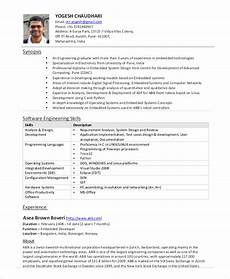 Objective In Resume For Software Engineer Experienced Software Engineer Resume Example 10 Free Word Pdf