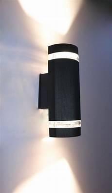 Black Outdoor Up And Down Lights Semi Cylinder Up Down Indoor Outdoor Exterior Wall Light