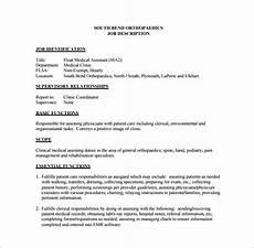 Medical Assistant Job Description Sample 9 Medical Assistant Job Description Templates Free