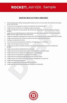 Rental House Rules Template House Rules For Lodgers Uk Template Make Yours For Free