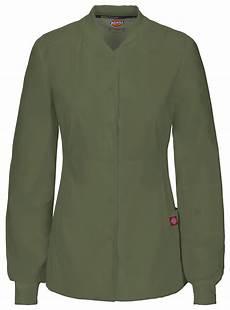 sleeve scrub jacket dickies s new sleeve pocket snap front warm up