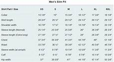 Slim Fit Shirt Size Chart Uk Mens Dress Shirt Measurement Guide With Size Chart