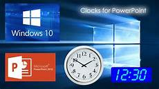 Digital Timer Powerpoint How To Display A Clock In Powerpoint Youtube