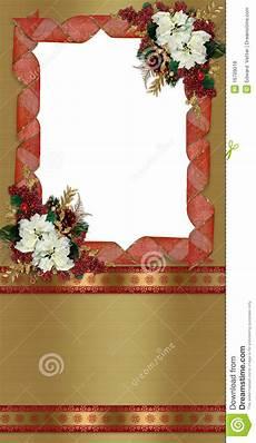 Christmas Card Borders Free Christmas Border Greeting Card Stock Illustration