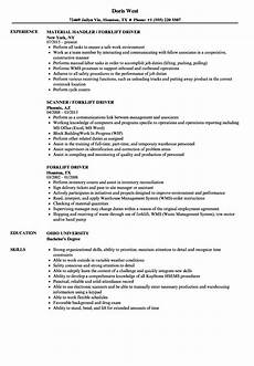 Resume For Forklift Operator 11 12 Forklift Operator Resume Examples Samples