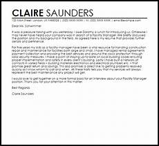 Cover Letter For Maintenance Manager Facility Manager Cover Letter Sample Cover Letter