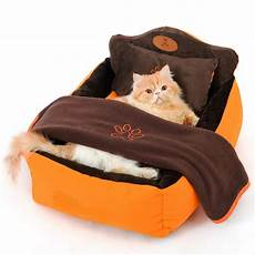 luxury pet bed with pillow blanket dogs cats best products