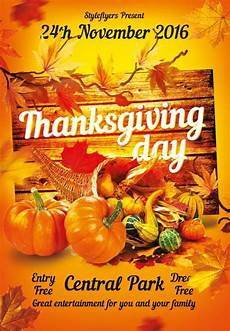 Thanksgiving Flyers Download The Thanksgiving Free Flyer Template For Photoshop