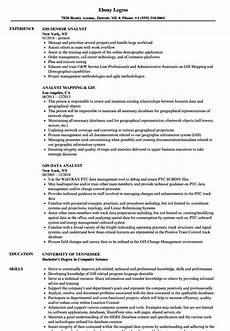 Gis Resume Analyst Gis Resume Samples Velvet Jobs