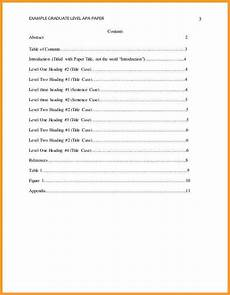 Apa Style Table Of Contents Apa Table Of Contents