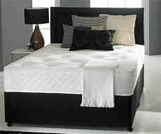 6ft king size divan bed base only in black faux leather