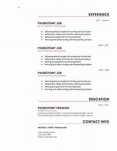 Phlebotomist Duties Resume Download 10 Professional Phlebotomy Resumes Templates Free