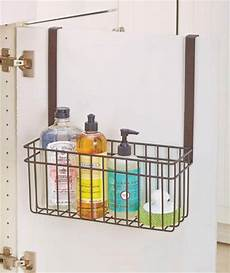 new the cabinet door towel bar w storage basket