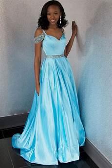 Light Blue Plus Size Formal Dress Light Blue Satin Off The Shoulder Plus Size Prom Dresses
