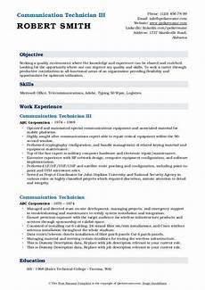 Communication Technician Resume Communication Technician Resume Samples Qwikresume