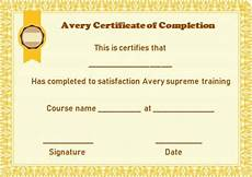 Avery Certificate Templates Avery Certificate Of Completion Template Certificate Of