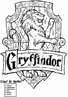 Harry Potter Wappen Malvorlagen Harry Potter House Crest Coloring Pages Harry Potter