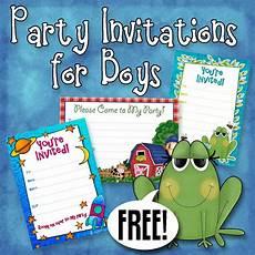 Bday Party Invites Free Printable Boys Birthday Party Invitations Boy