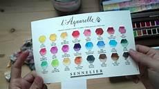 Sennelier Watercolor Chart Sennelier Watercolor Walnut Set Unboxing Youtube