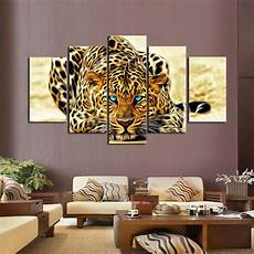 2018 unframed yellow abstract leopards hd wall picture