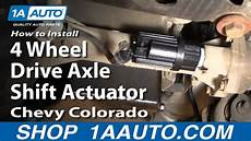 2000 Chevy Blazer 4 Wheel Drive Light Flashes How To Replace Four Wheel Drive Actuator 04 12 Chevy
