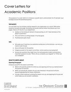 Academic Job Cover Letter Academic Job Application Letter Templates At