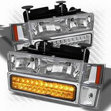 Led Lights For 85 Chevy Truck For 94 99 Chevy C10 C K Tahoe Suburban Silverado 8in1 Led