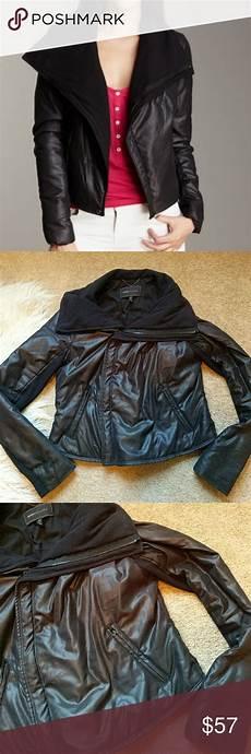 fleece coats for bcbgmaxazria bcbgmaxazria black moto style fleece lined coat style