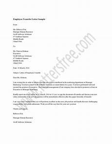 Transfer Letter Sample Employee Transfer Letter Sample Hrzone