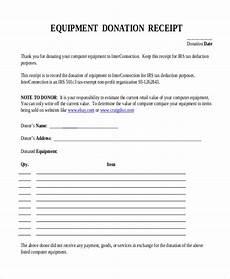 equipment receipt form template free 7 sle donation receipt forms pdf