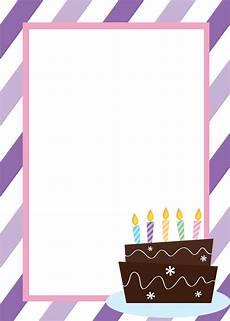 Blank Birthday Invitation Templates Free Printable Birthday Invitation Templates
