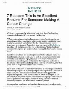 Writing A Resume For A Career Change Ideal Resume For Someone Making A Career Change Business