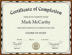 Certification Of Completion Template Certificate Of Completion Template Free Download