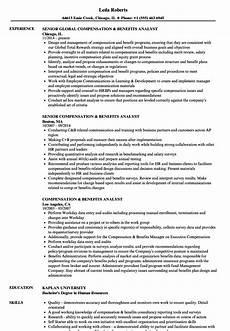 Compensation Analyst Resumes Compensation Amp Benefits Analyst Resume Samples Velvet Jobs