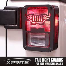 Rear Light Cover Pair Black Rear Light Cover Guard With Jeep Logo 2007