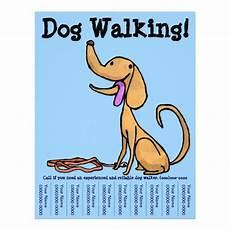 Dog Walker Flyers Dog Walking Flyer Zazzle Com