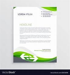 Letter Headed Design Elegant Green And Gray Letterhead Design Template