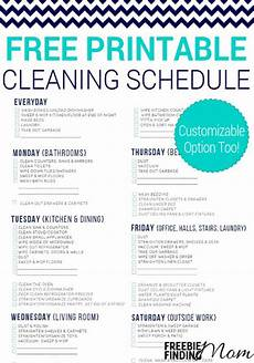 House Chores Schedule Free Printable Cleaning Schedule