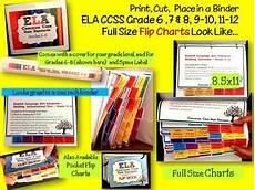Common Core Flip Charts Ela Common Core Standards Grades 6 8 Full Size Binder