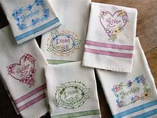 Christmas Tea Towel Embroidery Designs Love Dream Friendship Tea Towels Hand Embroidery