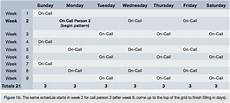 Call Schedule Template On Call Rotation Schedule Template Printable Receipt