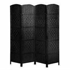made wicker folding room divider separator privacy