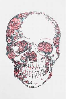 floral skull iphone wallpaper floral skull wall decal iphone backgrounds