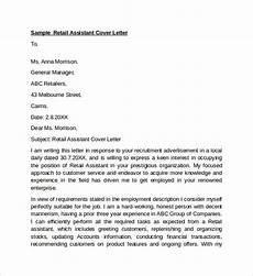 Cover Letter Retail Examples Sample Cover Letters For Job 9 Examples In Word Pdf