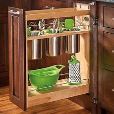 rev a shelf 448ut bcsc 8c 8 quot w base cabinet utensil bin