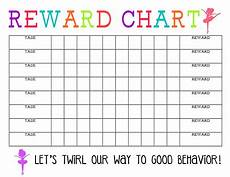 Good Behaviour Charts To Print Off Printable Reward Chart The Girl Creative