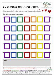 Sticker Chart For Toddler Behavior Listened The First Time Chart Kiddos At Home Kids