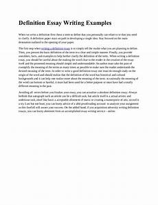 Writing A Definition Essay Examples Definition Essay Writing Examples