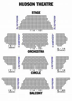 Hudson Theater Seating Chart Broadway London And Off Broadway Seating Charts And Plans